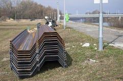 Stahlbausäulen mit spezifischen Formen lizenzfreie stockbilder