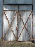 Stahlblech-Bau-Architektur Lizenzfreie Stockbilder