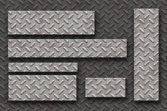 Stahlblechfahnenset und -hintergrund Lizenzfreies Stockbild