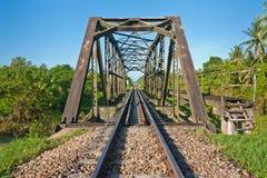Stahlbrücke für Serie Stockbild