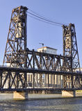 Stahlbrücke im prtland Oregon Stockfoto