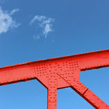 Stahlbrücken-Keil Stockbild