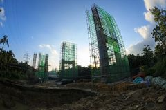 Stahlbrückenbau Lizenzfreies Stockfoto