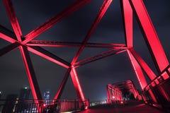 Stahlbrückennahaufnahme Lizenzfreies Stockfoto