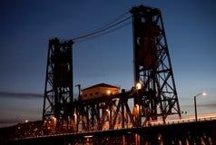 Stahlbrücke, Portland Stockfotos