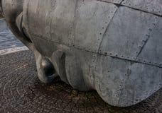 Stahldenkmal Stockfoto