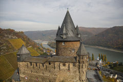 Stahleck castle. In Bacharach, Rhine Valley, Germany Royalty Free Stock Photo