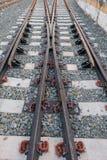 Stahleisenbahnlinien Stockbilder