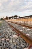 Stahleisenbahnlinien Stockfotos