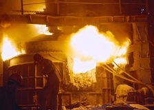Stahlerzeugung Lizenzfreie Stockfotos