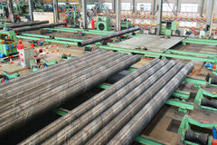 Stahlfabrik nach innen Lizenzfreie Stockfotos