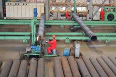 Stahlfabrik nach innen Lizenzfreies Stockfoto