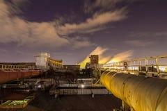 Stahlfabrik in Tscheljabinsk, Russland Lizenzfreies Stockfoto