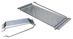 Stahlfaser für konkrete Verstärkung in Folge geklebt Stockbild