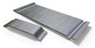 Stahlfaser für konkrete Verstärkung in Folge geklebt Lizenzfreies Stockfoto