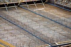 Stahlgerüst für Beton Stockfotos