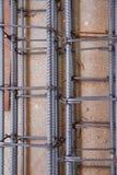 Stahlgitter auf der Baustelle Lizenzfreie Stockfotos