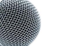 Stahlgitter des Mikrofons Stockfoto