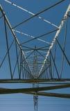 Stahlgittermast stockbild