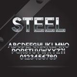 Stahlguß und Zahlen Stockfoto