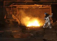 Stahlherstellung Stockbild