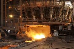 Stahlherstellung Lizenzfreies Stockfoto