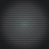 Stahlhintergrund mit perforiertem Beschaffenheitshintergrund des Kreises Stockbild