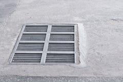 Stahlkanaldeckel oder Kanaldeckel Stockbild