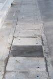 Stahlkanaldeckel oder Kanaldeckel Lizenzfreies Stockfoto