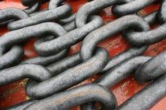 Stahlketten stockfotografie