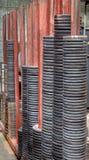 Stahlkolben-schweißungs-Fitting, geschmiedeter Flansch, Roheisen dreht sich. Stockfotos