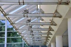 Stahlkonstruktion Bau und envrionment Lizenzfreie Stockfotografie