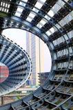 Stahlkonstruktion der modernen Architektur Stockfotos