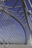 Stahlkonstruktionbrücke Lizenzfreies Stockfoto