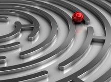 Stahllabyrinth stockbild
