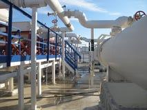 Stahlleiter und Treppe Lizenzfreies Stockfoto