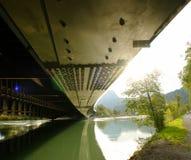Stahllichtstrahl der Brücke. Stockfotos