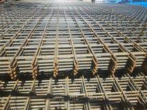 Stahlmatten für Baustelle stockfotografie