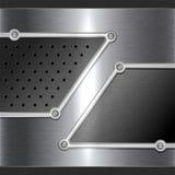Stahlmetallhintergrund Lizenzfreie Stockbilder