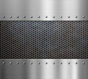 Stahlmetallhintergrund Stockbild