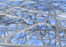 Stahlmetallstangen /structure Stockfotos