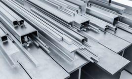 Stahlmetallstrahl 3d Lizenzfreie Stockfotos