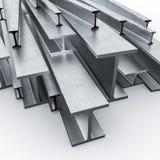 Stahlmetallstrahl 3d Stockbild