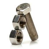 Stahlmuttern - und - Schrauben Lizenzfreies Stockbild