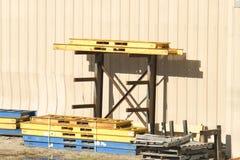 Stahlpaletten Stockfotografie