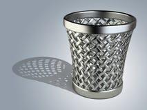 Stahlpapierkorb leer vektor abbildung