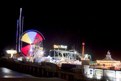 Stahlpier - Atlantic City, New-Jersey (Nacht) Lizenzfreies Stockbild