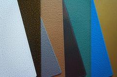 Stahlplatten mit Pulverbeschichtung Lizenzfreie Stockfotos