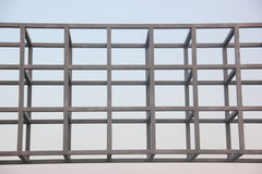 Stahlrahmenkonstruktion Lizenzfreies Stockbild