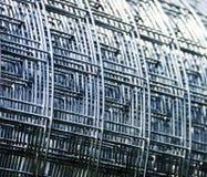 Stahlrasterfeld Stockbild